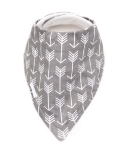 Grey Arrows Bandana Bib