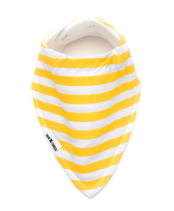Yellow Stripes Bandana Bib