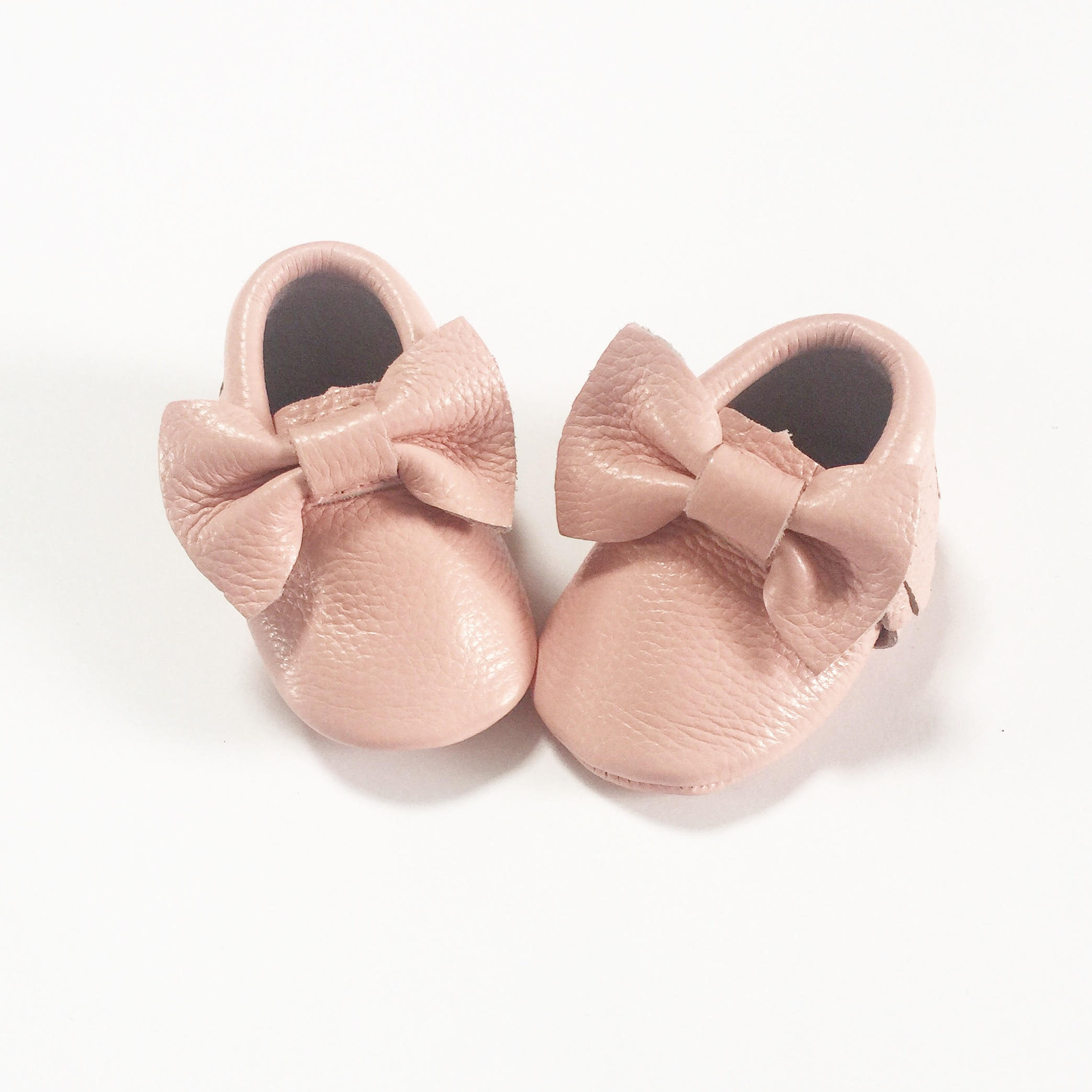 Rain Conker Baby Pink Bow Moccasins Simple Stylish