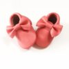 Coral Pink Bow Moccasins