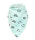 Mint Clouds + Rainbows Bandana Bib