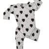 Organic Cotton Baby Romper - Grey Monsterra