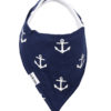 Navy Anchor Bandana Bib