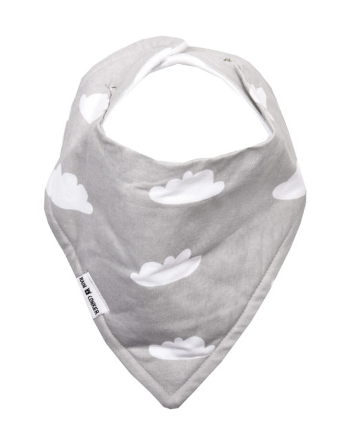 Grey Clouds Bandana Bib