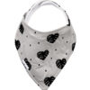 botanical bandana bib Grey monsterra leaf