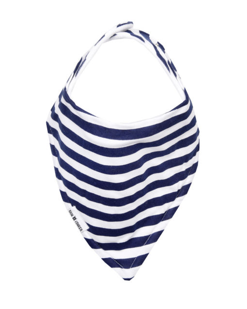Navy Stripes Bandana Bib