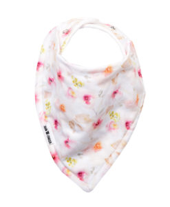 Pink Floral Watercolour Bandana Bib