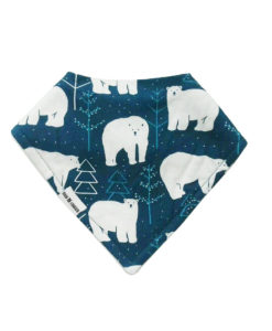 Christmas Polar Bear Bandana Bib