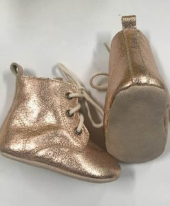 Rose Gold Baby Boots