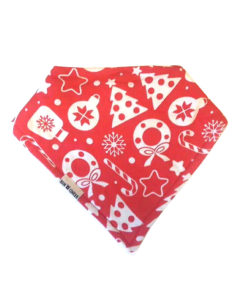 Traditional Christmas Bandana Bib